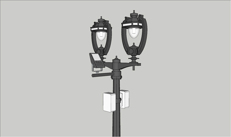 GH energy saving smart street light pole good for lighting management-2