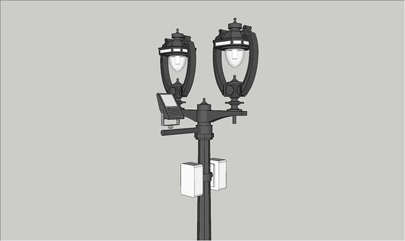 GH energy saving smart street light pole good for lighting management