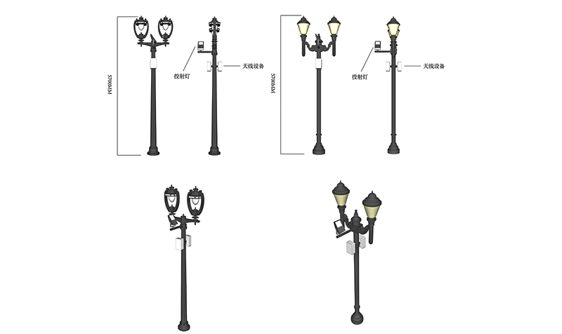 aumatic brightness adjustment smart street light pole cost effective for lighting management-4