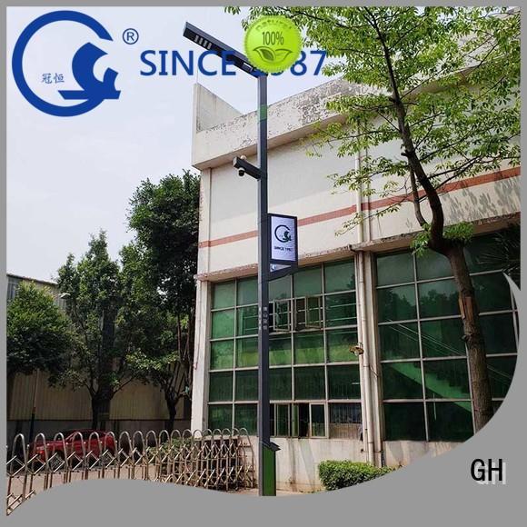 GH aumatic brightness adjustment smart street light pole good for