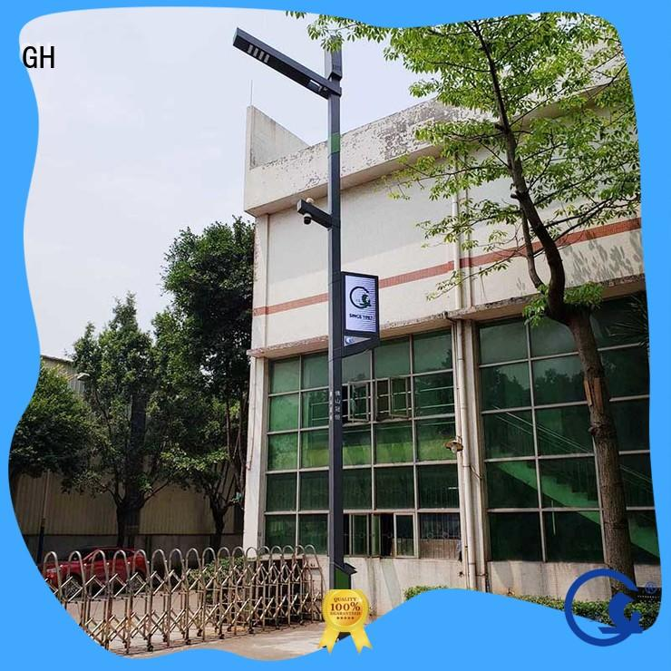 GH advanced technology smart street light pole suitable for lighting management