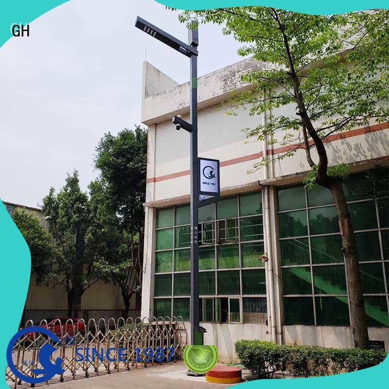 GH smart street light pole suitable for public lighting