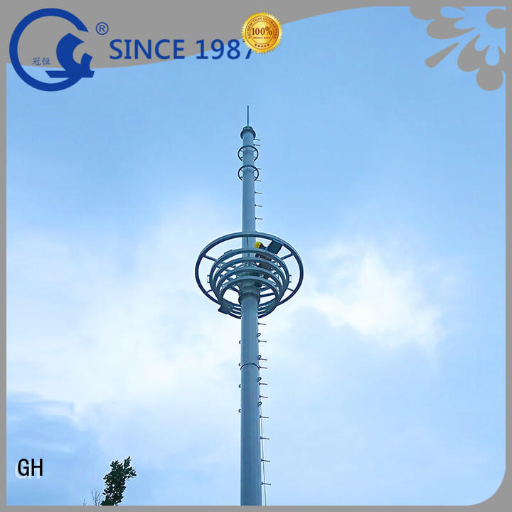 GH light weight communication pole comnunication system