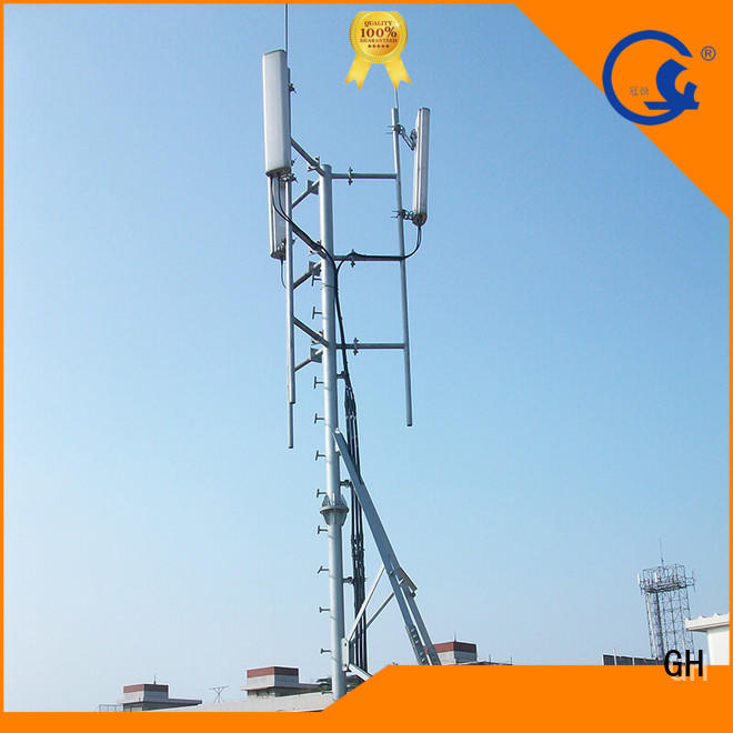 GH antenna support pole suitable for building in the roof