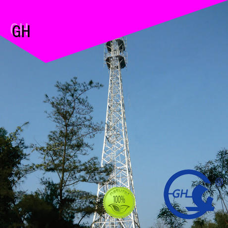 GH light weight antenna tower excelent for communication industy