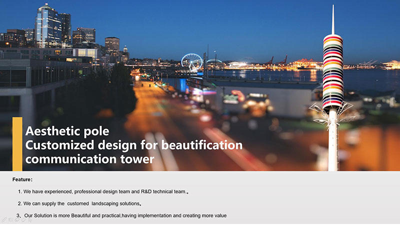Aesthetic pole Customized design for beautification communication tower