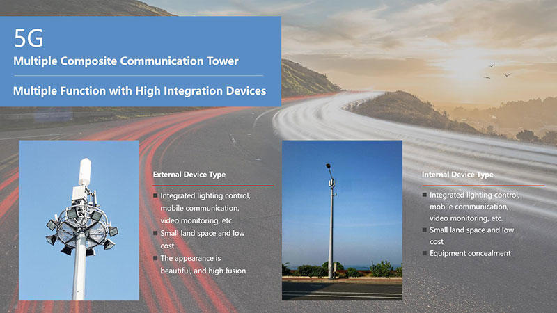 5G Multiple Composite Communication Tower