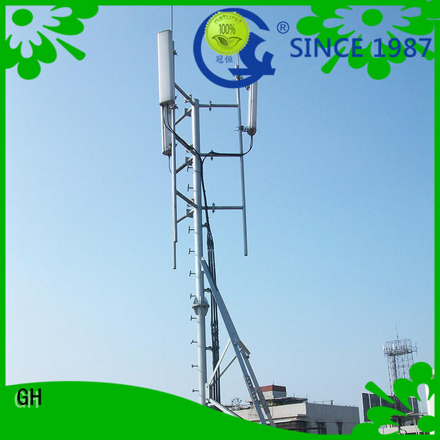 high strength antenna support pole with great praise for building in the roof
