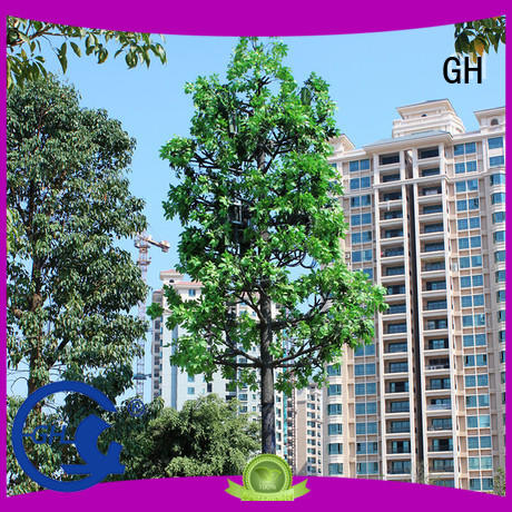 GH simple structure cell phone tower tree with good quality for cell commnucation
