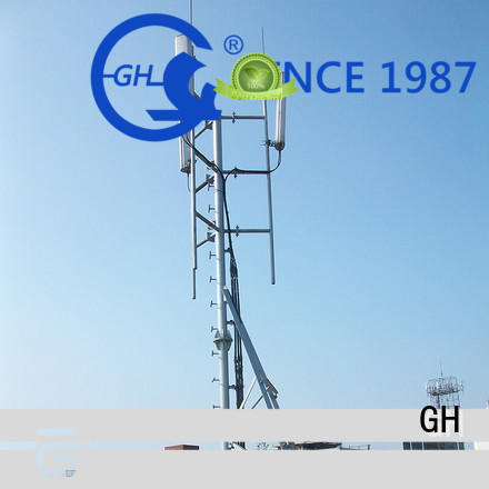 high strength antenna support pole with satisfed feedback for building in the roof