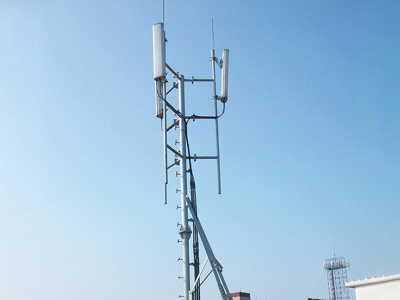 high strength antenna support pole with satisfed feedback for building in the roof-1