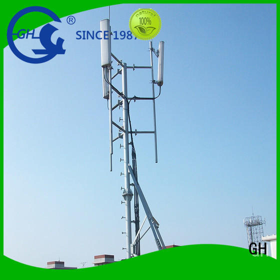 GH antenna support pole ideal for building in the peak