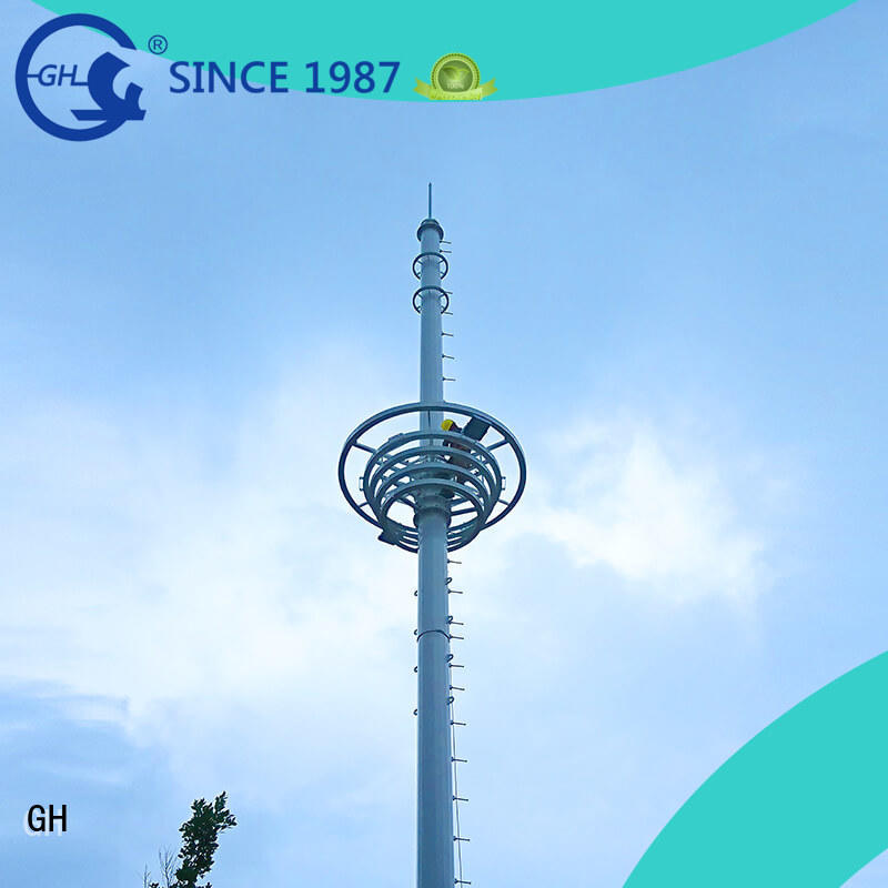 GH light weight cell phone tower excelent for communication industy