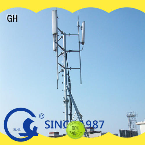 GH stable antenna support pole suitable for building in the peak