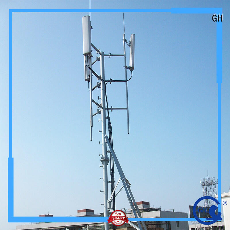 GH antenna support pole with satisfed feedback for building in the roof