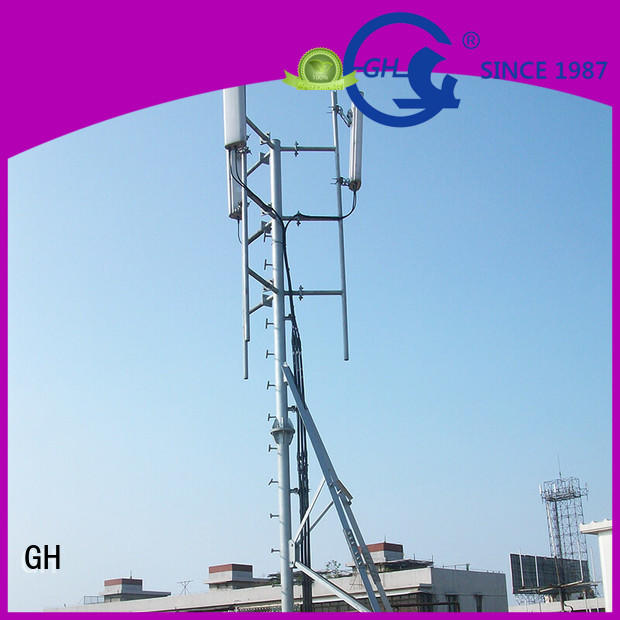 antenna support pole with satisfed feedback for communication industry