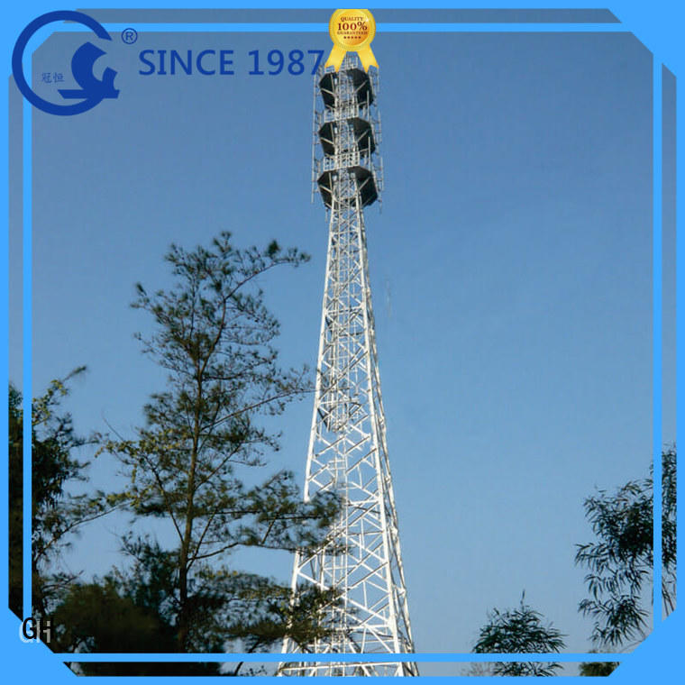 GH cost saving monopole tower communication industy
