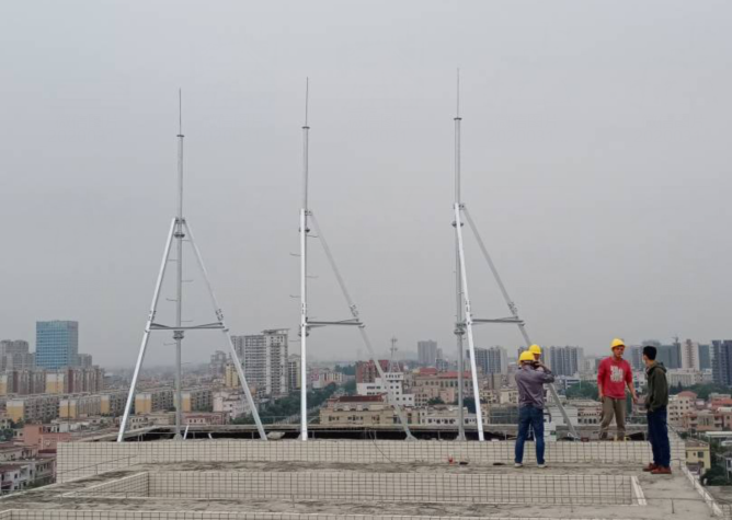 Antenna support rod, Rod tower, Roof tower