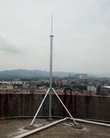 stable rod tower suitable for building in the peak